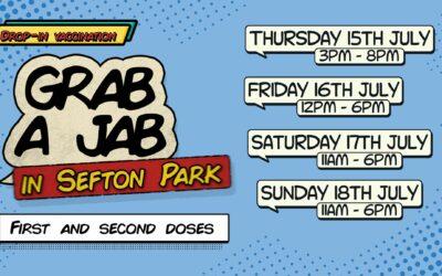 Grab-a-Jab in Sefton Park this weekend